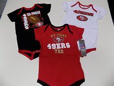 SAN FRANCISCO 49ERS INFANT CREEPERS SET OF 3  SZ 24 MONTHS NWT