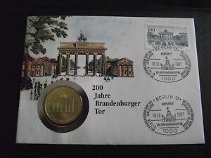 """Numisbrief """"200 Jahre Brandenburger Tor"""" (1991)"""