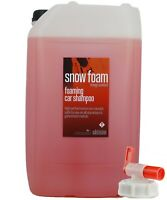 Snow Foam Wash - Orange Scented 25L Litre / Valeting / Car Shampoo with Drum Tap