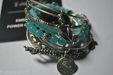 Alex and Ani Set of 7 Silver Aquarius; Medina; Cattail; Knotted Love Wrap; +MORE