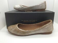Frye Womens Carson Silver Leather Slip On Ballet Flats Shoes Size 8 ZC-272
