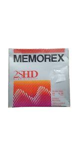 """Memorex 2S/HD Flexible Disks, 10 TEN: 5 1/4"""" 5.25"""" Floppy Diskette Disks, NEW"""