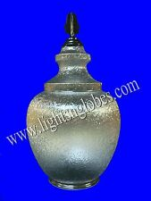 "OUTDOOR Street POST LAMP LIGHT FIXTURE LENS GLOBE CLEAR ACORN 8"" NECK Finial New"