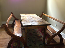 Original Antique Rustic French Provincial Benches - Loire Valley, c. 1830