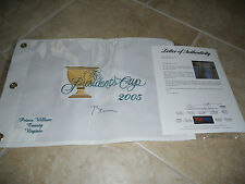 Bill Clinton Presidents Cup 2005 Signed Golf Flag PSA Certified