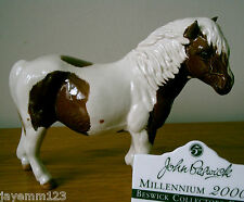BESWICK HORSE SHETLAND PONY HOLLYDELL DIXIE MODEL BCC95 No H185 SKEWBALD PERFECT
