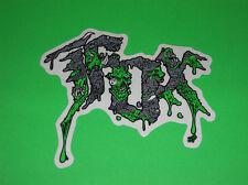 FOX RACING MOTOCROSS ATV QUAD SKATEBOARD BMX WAKEBOARD GREEN RABID STICKER DECAL