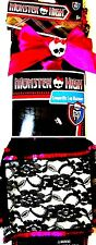 NEW Monster High Leg Warmers Pink Ribbon Skull Black Lace Bottom Pink Sequin Top