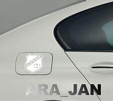 daBOSS Vinyl Decal Sticker Sport Racing Speed car gas fuel tank emblem logo WHT