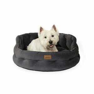 Joules Chesterfield Pet Bed - Dog or Cat - Small or Large - Luxury Velvet