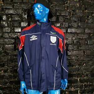 England Vintage Training Jacket With Zipped Hooded With Stripes Umbro Mens S