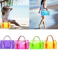 Women Transparent Handbag Shoulder Bag Clear Jelly Purse Tote PVC Bag Clutc CL