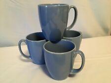 "4 Corelle Stoneware Cups/Mugs ""Corning"" Blue Color"