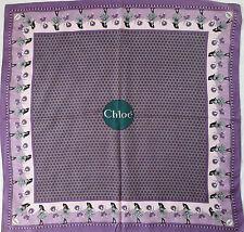 -Superbe Foulard CHLOÉ 100% soie  TBEG vintage scarf