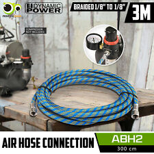 """3M Air Hose Flexible Rubber Braided Air Brush Compressor 1/8"""" to 1/8"""" Connection"""