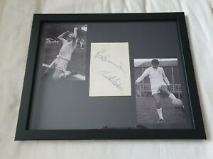 Billy Bremner/Norman Hunter Leeds United Hand Signed 14x11 Framed Card Extremely