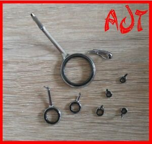 "Rutenbau Rodbuilding Ringsatz Ringe Rutenringe ""One Leg Mini"" 7+ 1 Statio leicht"