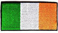 Ireland Flag Patch Irish Embroidered Iron Sew On souvenir tourist World Cup