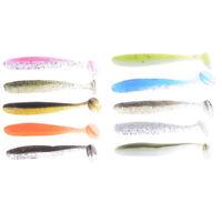 10Pcs Lifelike soft fishing T tail soft worm fishing lures fishing tackES