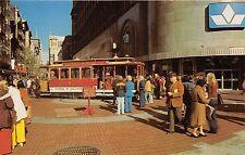 BG21440 tramway powell and market street cable car san francisco california  usa