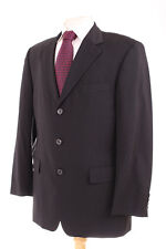 HUGO BOSS PLAIN BLACK MEN'S SPORTS JACKET 38R DRY-CLEANED