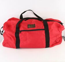 Vtg 90s Eddie Bauer Spell Out Large Duffel Bag Gym Weekender Carry On Bag Red