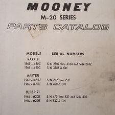 1965-1966 M20C, M20D & M20E Mooney Parts Manual