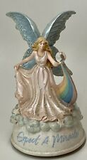 """Vtg San Francisco Music Box Co. Angel Fairy """"Expect A Miracle� ~Wish Upon A Star"""