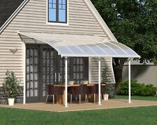 PERGOLA VERANDAH PATIO COVER KIT JOYA 3X4.25 WHITE CLEAR