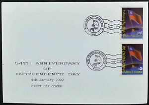 Burma / Myanmar 2002, 54th Anniv Of Independence FDC First Day Cover #C52916