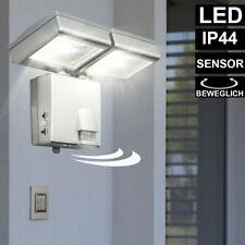 LED Spot Leuchte mit Bewegungsmelder Außen Lampe Garage Weg Haus Einbruch-Schutz
