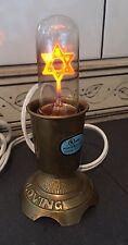 Vintage Star of David Jewish Light Bulb & Lamp ~ VGC