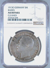1913G Germany 5 Mark Baden AU Details NGC Certified