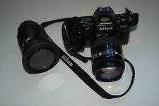 Nikon F801 mit Zoom Objektiv 35-105 & 70-210mm Analog Fotoapparat Spiegelreflex