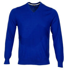 2016 J.Lindeberg LG Bridge Golf Sweater Strong Blue Medium NEW