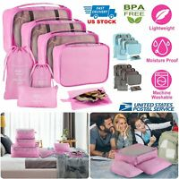 8Pcs Travel Storage Bag Set for Clothes Luggage Packing Cube Organizer Suitcase