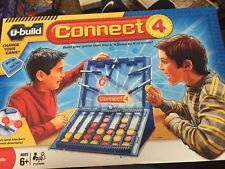 CONNECT 4 FOUR U-Build Game with Bumpers - Hasbro 2010, Boy/Girl, 6+ yrs