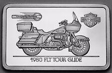 1.4 oz .999 silver bar 1980 FLT TOUR GLIDE Harley Davidson COA,GREAT GIFT