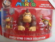 Super Mario Mini-Figuren Pack Donkey Kong 6cm Nintendo pack de 3 figurines neuf