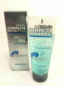 Gillette Compete Skin Care Fragrance Free Soothing After Shave Gel Rare Product