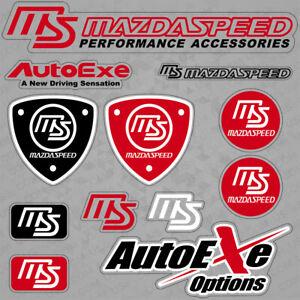 For Mazdaspeed Mazda Performance Autoexe Sport Car Sticker 3D Decal Logo Stripe