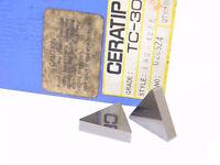NEW SURPLUS 10PCS.  CERATIP  TNG  432A  GRADE: TC30  CERMET INSERTS