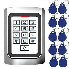 New RFID 125Khz EM Card Standalone Access Controller Keypad +10pcs RFID keyfobs