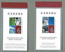 Canada 2004 Set di 2 FASCICOLI-Attrazioni Turistiche - 12 @ 49c. - completa Gomma integra, non linguellato
