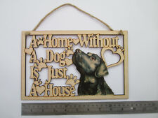 Labrador, grande, in legno, Dog House e home PLACCA, DISPONIBILI altre razze