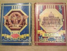 roma parte 1 and 2 very rare and unique postcard book from 1932?
