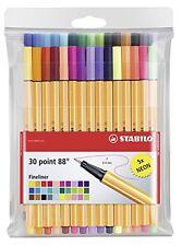 STABILO Point 88 Fineliner PENNARELLO 0.4mm - Confezione da 30 Colori - 25 + 5 colori al neon