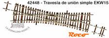 ROCO 42448 H0 Travesía de unión simple EKW15  - NUEVO (C125)
