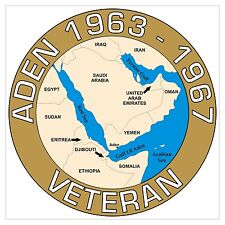 Aden War Classic Armed Forces Veterans conflict specific Sticker