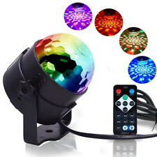 LED Magic Ball Stage Light RGB Rotating Disco Light Party DJ Decor Remote UK